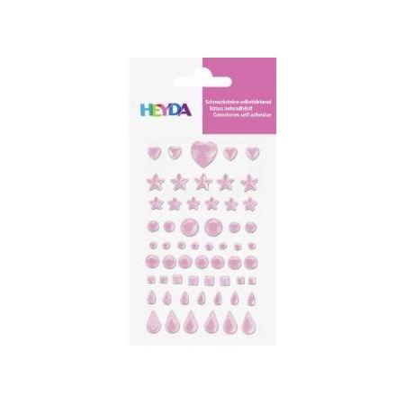 Sticker Strass rose pâle 58pc
