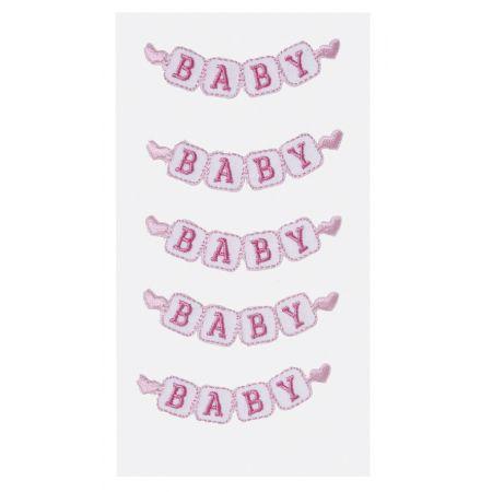 Sticker textile bébé fille 2