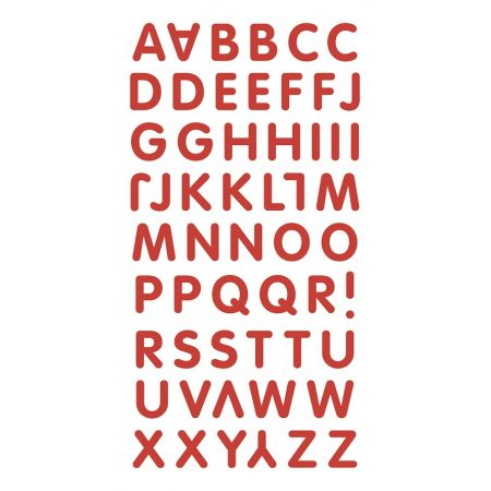 Sticker lettres rouges