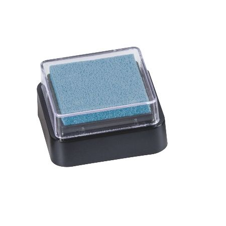 Mini coussin encreur 3x3cm bleu clair