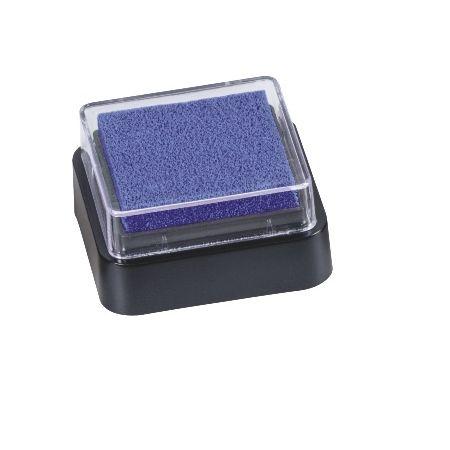 Mini coussin encreur 3x3cm bleu foncé