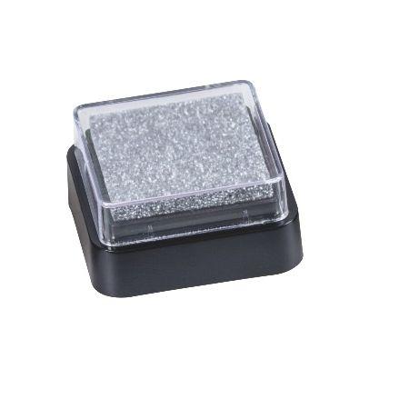 Mini coussin encreur 3x3cm argent