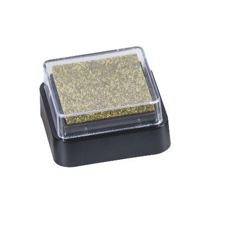 Mini coussin encreur 3x3cm or