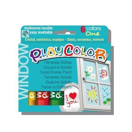 Playcolor window boîte de 6 couleurs assorties
