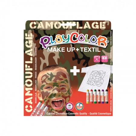 Playcolor pack make up pocket+textile one camouflage (kit)