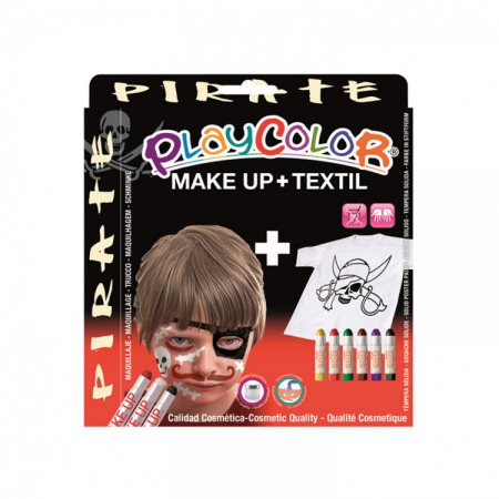 Playcolor pack make up pocket+textile one pirate (kit)
