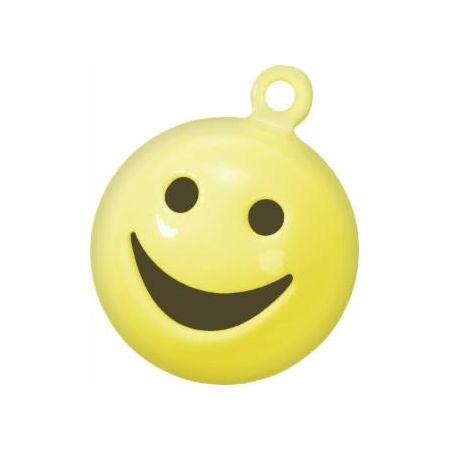 Grelot Smiley 15mm jaune 5pc