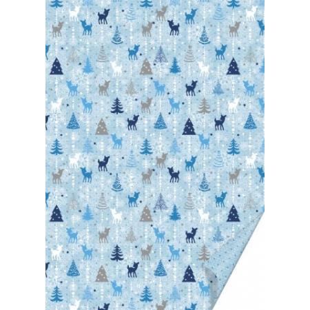 Carton créa. Bambi 50x70 bleu