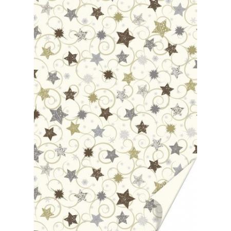Carton créatif Étoiles dorées50x70