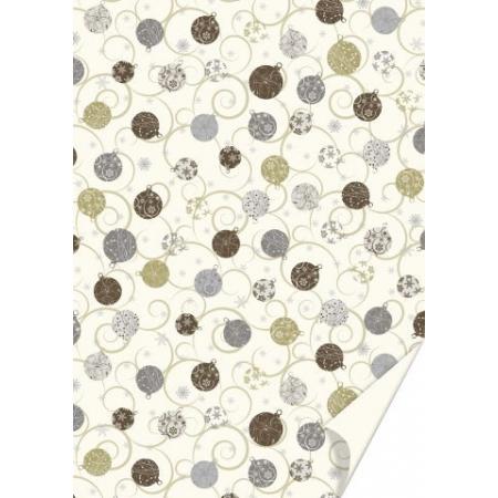 Carton créatif Boules dorées50x70