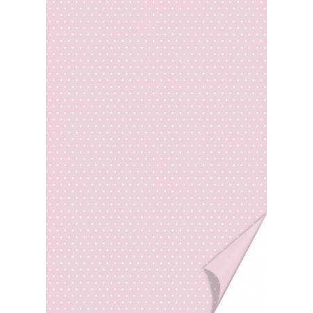 Carton à points 21x31 200g rose