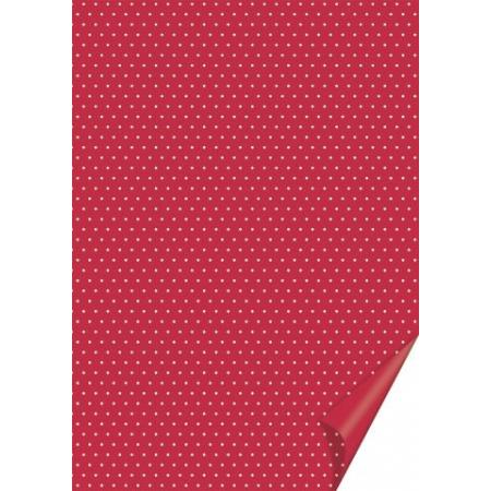 Carton à points 21x31 200g rouge
