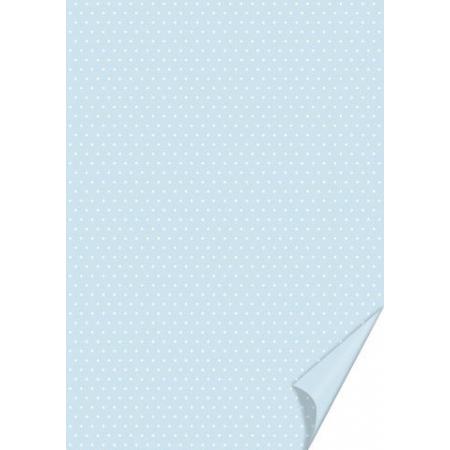 Carton à points 21x31 200g bleu cla