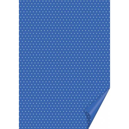Carton à points 21x31 200g bleu moyen