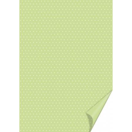 Carton à points 21x31 200g vert cla