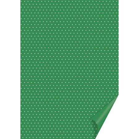 Carton à points 21x31 200g vert fon