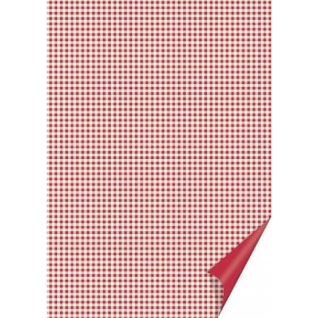 Carton quadrillé 21x31 200g rouge