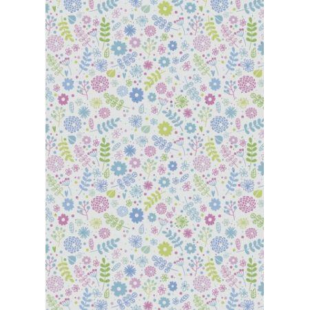 Carton 50x70 Fleurs bleues
