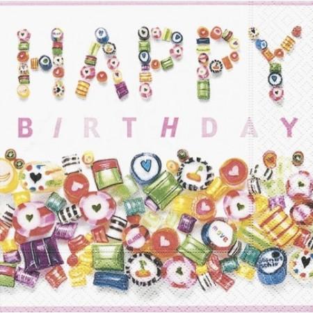 Serv.Sweet Birthday33x33cm20pc
