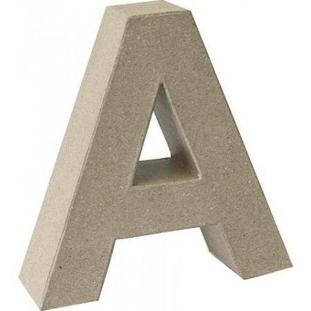 Lettre 3D papier mâché A 17,5x5,5cm