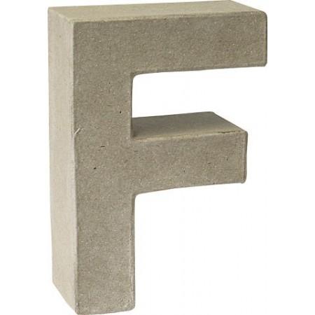 Lettre 3D papier mâché F 17,5x5,5cm