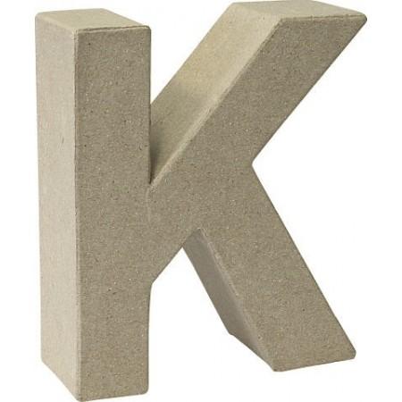 Lettre 3D papier mâché K 17,5x5,5cm