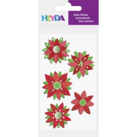 Stickers assortis Poinsettia