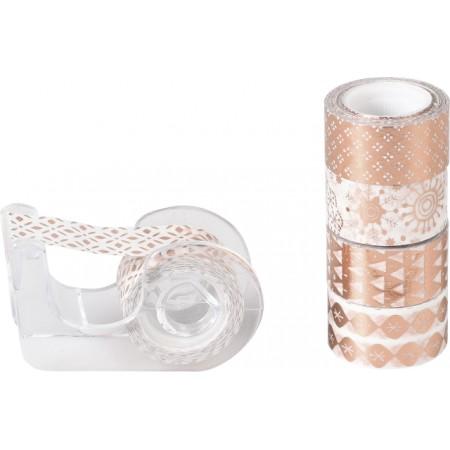 Ruban adh.déco Mini brill.or rose