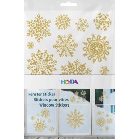 Sticker pour fenêtre Étoile doré