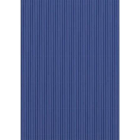 Carton ondulé 50x70 300g bleu moyen