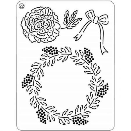 Pergamano Mini grille 22 Rose de Noël