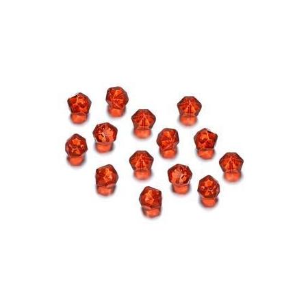 Perles polies Antique rouge 7 mm