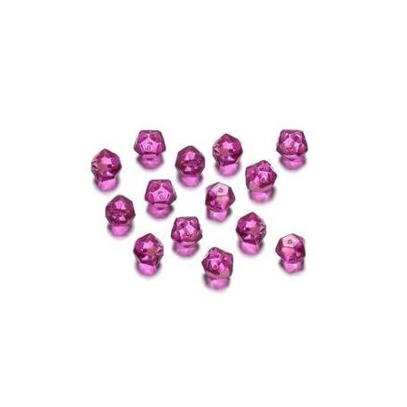 Perles polies Antique fuchsia 7 mm