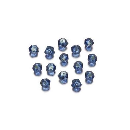 Perles polies Antique bleu 7 mm