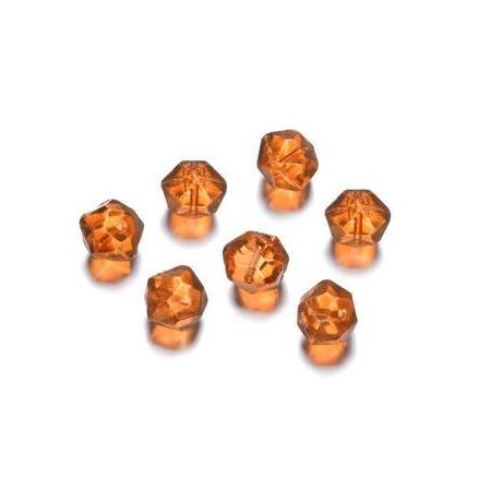 Perles polies Antique orange 12 mm