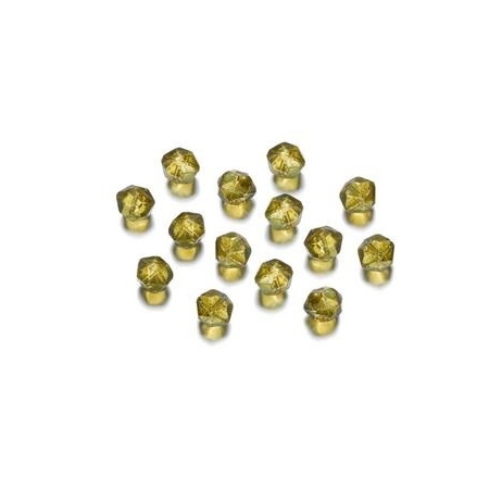 Perles polies Antique lime green 7 mm