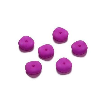 Perles mates vague fuchsia 4 x 10 mm