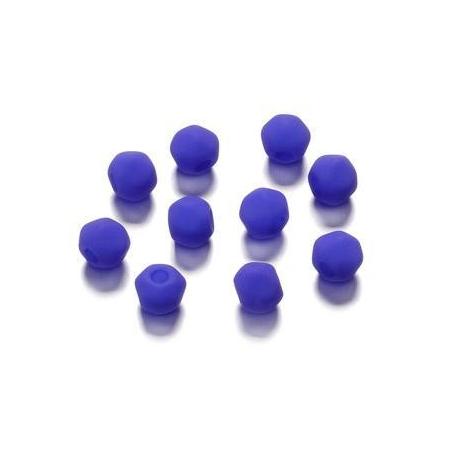 Perles angulaire mate bleu foncé 5.5 mm