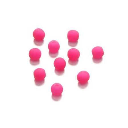 Perle néon 4 mm fuschia