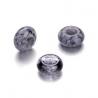 Mix perles verre avec grand trou anthracite