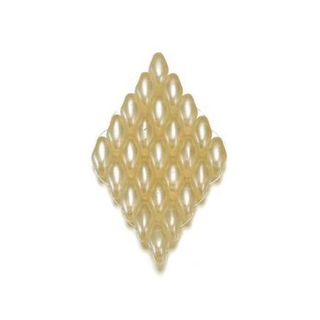 Duo Beads L'aspect cire 2,5 x 5 mm crème
