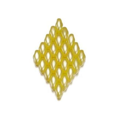 Duo Beads L'aspect cire 2,5 x 5 mm jaune