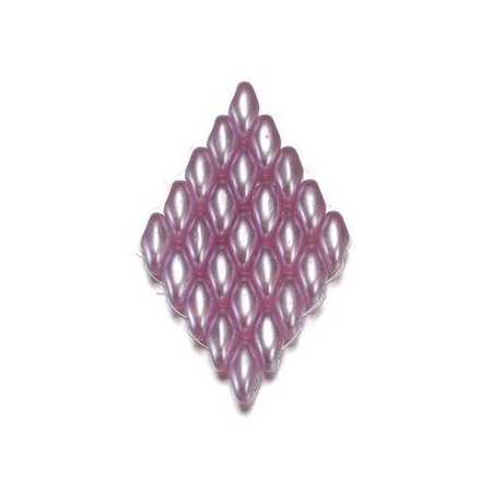 Duo Beads L'aspect cire 2,5 x 5 mm rose antique