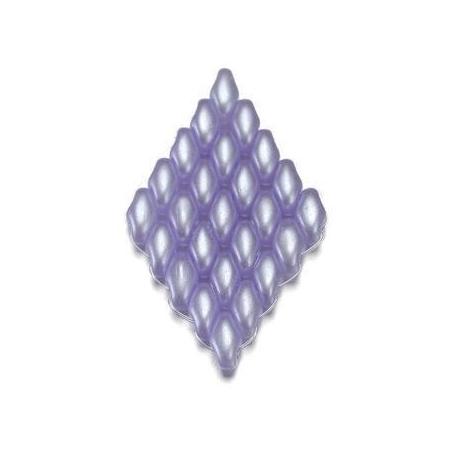 Duo Beads L'aspect cire 2,5 x 5 mm bleu pâle