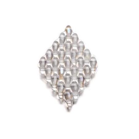 Duo Beads 2 trous 2,5 x 5 mm cristal transparent 8g