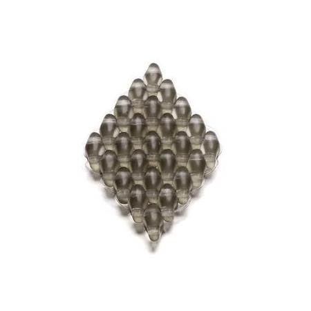 Duo Beads 2 trous 2,5 x 5 mm cristal mat transparent AB 12g
