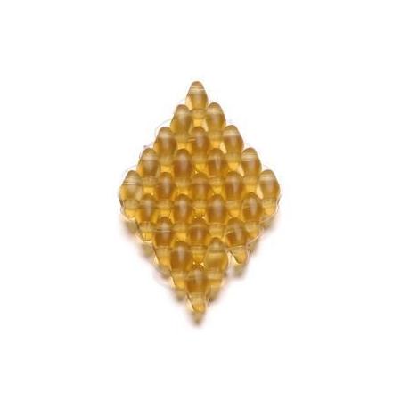 Duo Beads 2 trous 2,5 x 5 mm jaune transparent 12g