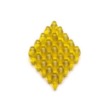 Duo Beads 2 trous 2,5 x 5 mm topaze mat transparent 12g