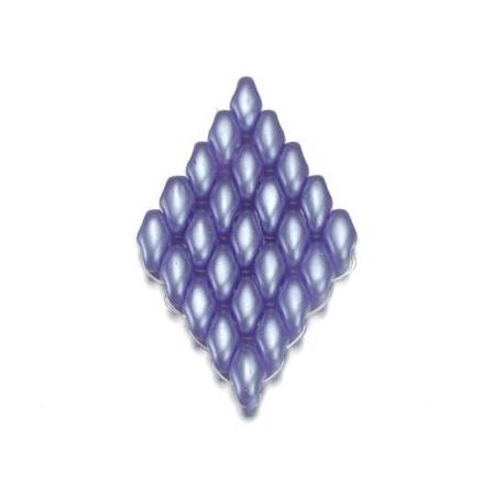Perles Duo Beads aspect cire 2,5 x 5 mm bleu