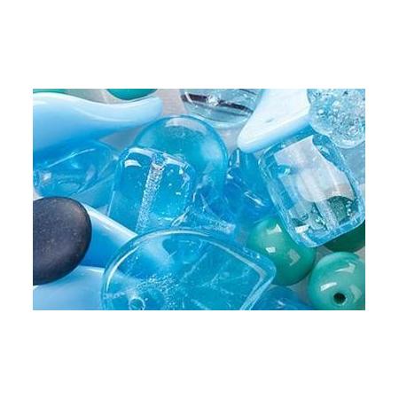 Assortiment de perles en verre turquoise SB